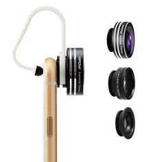 Mpow 3 in 1 Clip-On 180 Degree Supreme Fisheye Lens, 0.67X Wide Angle Lens, 10X Macro Lens kit for iPhone 6 / 6s/6Plus ,iOS &Android Smartphones, 2016 Amazon Top Rated Lab & Scientific Products  #Industrial