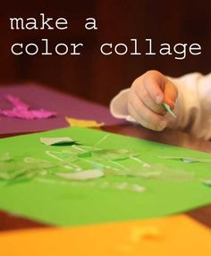 Make a super simple color collage for learning colors