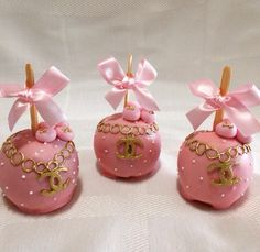 Chanel candy apples