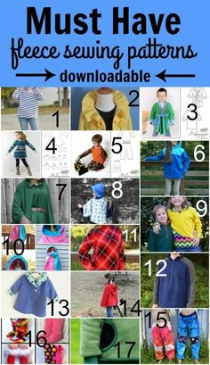 Do you love to sew with fleece fabric? Here are some must-sews for winter. These fleece sewing patterns are downloadable. Check them out today!