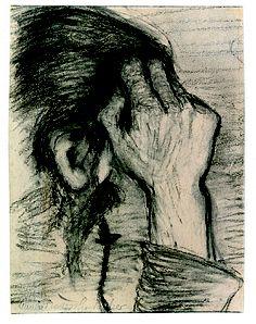 artnet Galleries: In die Hand gestützter Kopf by Paula Modersohn-Becker from Hubertus Melsheimer Kunsthandel