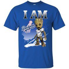 Los Angeles Dodgers Groot I Am T shirts Guardians Of The Galaxy Hoodies Sweatshirts