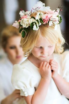 Elegant Flower Girl Photography: Michael Falco for Christian Oth Studio Read Mor. Pink Wedding Decorations, Wedding Colors, Wedding Flowers, Flower Girl Shirts, Flower Girl Dresses, Flower Girls, Flower Crowns, Wedding Trends, Wedding Styles