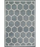 RugStudio presents Loloi Stephanie Stepsw-03 Charcoal / Ivory Hand-Hooked Area Rug