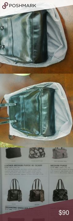 Thirty one leather medium purse with scarf And storage bag thirty one Bags Shoulder Bags