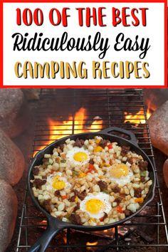 Rv Camping Recipes, Camping Meals, Camping Tips, Camping Breakfast Burritos, Campfire Breakfast, Make Ahead Meals, Easy Meals, Campfire Desserts, Breakfast Recipes