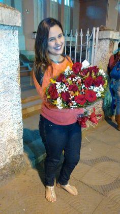 Lindas flores pra mulher da minha vida! ❤
