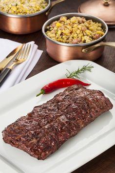 Flank Steak, carne macia e com pouca gordura, elaborada por Marcos Bassi do Templo da Carne (Foto: Divulgação)
