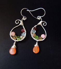 Check out this item in my Etsy shop https://www.etsy.com/listing/168957758/wire-wrapped-gemstone-earrings-moonstone