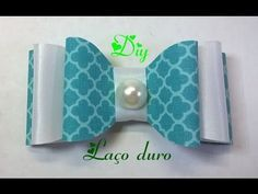 Laço duro com tecido e fita de cetim  Hard knot of fabric and satin ribbon - YouTube