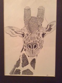 Stippling, art. This was one of my art projects