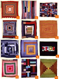 The quilts of Gees Bend. A group of African American women in a small, rural Alabama community of Gees Bend made quilts that are considered works of modern art. All of the work is beautiful. Quilting Projects, Quilting Designs, Quilt Design, Gees Bend Quilts, African Quilts, Quilt Modernen, Log Cabin Quilts, Textiles, Art Textile