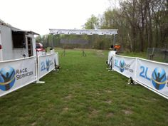 "2L Race Services uses eSigns.com! Check out this awesome review: ""Mesh Banners make this finish line look sharp. eSigns did a great job with them."" -Lowell L."