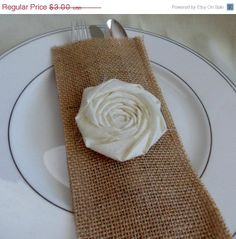 burlap wedding table decor | ON SALE Ivory and Burlap Wedding Table Decor Ivory Flower Burlap ...