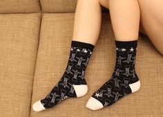 NEW design women's fashion Pretty cute Printed pattern Cotton Socks brand socks 2017 La Tour Eiffel Cristo Redentor London Eye