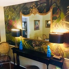 Dark Bouquet wallpaper Reusable Repositionable Peel and Temporary Wallpaper, I Wallpaper, Wallpaper Jungle, Tropical Wallpaper, Beautiful Wallpaper, Watercolor Leaf, Wall Murals, Wall Art Decor, Tropical Wall Decor