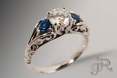 See how this ring is made  Pricing for the 3-Stone Vine Ring begins at $1990 for the semi-mount in 14k white gold