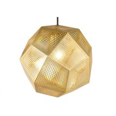 Etch Shade Pendant features metal sheets with a detailed pattern which casts a mass of intricate shadows when lit. Available in Steel, Black, Copper, and Brass finishes. One 40 watt, 120 volt A19 type medium base incandescent bulb is required, but not included. 12.6 inch width x 10.8 inch height x 98.4 inch maximum length.