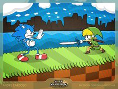 Super Smash Bros. - Brazil Collab - X Sonic Toon Link by André Cardoso