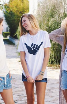 Adult Shaka Vibes T-Shirt in White | OF ONE SEA