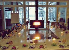 Rauhallinen hetki ennen koulutuspäivän alkua. Lehmonkärki, tammikuu 2014.