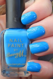 Polished Criminails: Swatch: BarryM - Cyan Blue