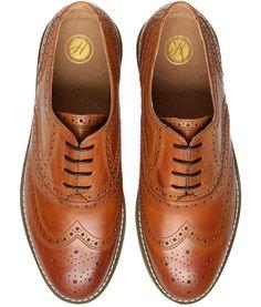 Men's Elwin 2 (Tan) Leather Brogue Shoe | H Shoes