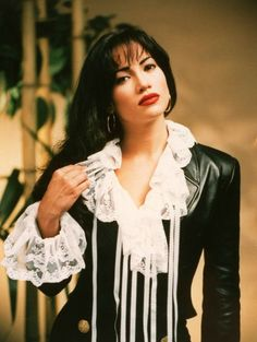Jennifer Lopez as Selena in promotional picture for Selena (1997)