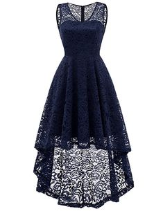 253646c069 DRESSTELLS Women s Cocktail V-Neck Dress Floral Lace Hi-Lo Formal Swing  Party Dress... More information can be located at the image url.