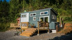 Located 20 minutes outside of Chattanooga, TN, this tiny house was handcrafted with recycled materials and has a rooftop deck. For rent through Airbnb.
