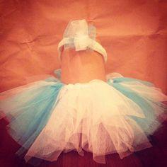 Elsa - Frozen inspired tutu and headband  for little princess (size 0-6 months)
