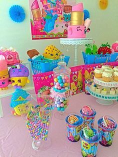 Colorful fun Shopkins birthday party! See more party ideas at CatchMyParty.com!