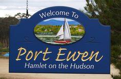 Port  Ewen Town Entry Sign / Danthonia Designs