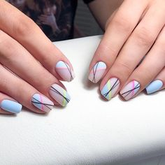 170 hottest matte short nail art designs ideas page 1 Nail Art Designs, Square Nail Designs, Short Nail Designs, Colorful Nail Designs, Beautiful Nail Designs, Colorful Nails, American Nails, Short Nails Art, Dream Nails