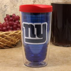 NFL Tervis Tumbler New York Giants 16oz. Royal Blue-Red Color Travel Tumbler by Tervis Tumbler. $19.95. Made of durable plastic. Embroidered logo patch. Reduces condensation. Snap-on lid with slide tab closure included. Double wall insulation. Tervis Tumbler New York Giants 16oz. Royal Blue-Red Color Travel TumblerMade in AmericaEmbroidered logo patchMade of durable plasticDouble wall insulationLifetime guaranteeSnap-on lid with slide tab closure includedOfficially licens...