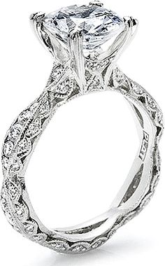 version of my ring!! Tacori Criss-Cross Channel-Set & Pave Diamond Engagement Ring 2578RD