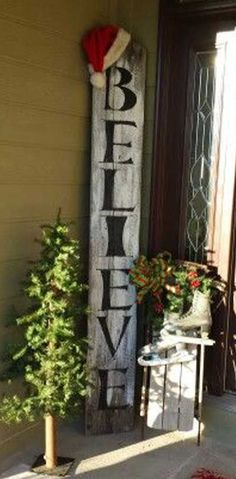 Show your holiday spirit by decorating your front door with cute signs! This project is low risk and has high rewards!