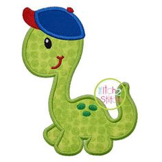 Machine Applique and Embroidery designs. You MUST have an Embroidery Machine to use these designs. Due to the electronic nature of the design NO REFUNDS will be given. You will receive your designs via email within 48hrs (usually within a couple of hours) Design Name: Dino In Ball Cap