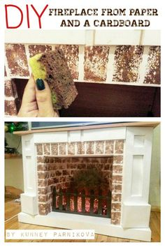35 Trendy Ideas For Diy Christmas Fireplace CardboardYou can find cardboard fireplace and more on our Trendy Ideas For Diy Christmas Fireplace Cardboard Diy Christmas Fireplace, Fake Fireplace, Fireplace Ideas, Office Christmas, Christmas Crafts, Christmas Decorations, Faux Fireplace Diy Cardboard, Diy Karton, Diy Weihnachten
