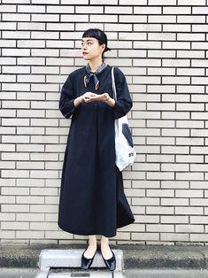 New korean dress fashion black Ideas Skirt Fashion, Fashion Dresses, Formal Dress Patterns, Japan Outfit, Scarf Dress, Korean Dress, Casual Dress Outfits, T Shirt And Jeans, Fashion Games