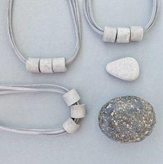 Items similar to Concrete jewelry, geometric concrete necklace, minimal cement pendant on Etsy Gifts For Nan, Gifts For Wife, Geometric Necklace, Geometric Jewelry, Diy Jewelry Necklace, Dog Tag Necklace, Cement Jewelry, Hematite Necklace, Minimalist Necklace