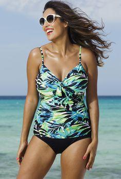 75e3f7f9ef Shore Club Margarita Underwire Tie Front Tankini Tankini Swimsuits For  Women