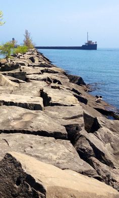 Beacon to Mariners of Port Credit Harbour. Sunken Iron Barge Photo by L. Early