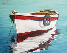 Calm sea Painting  - Calm sea Fine Art Print