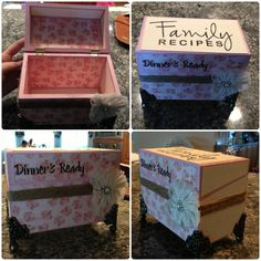 DIY recipe box