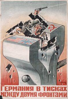 """""""Deutschland im Schraubstock zwischen zwei Fronten"""", M.Mehlmann, 1944"""
