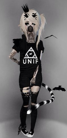 Cute emo outfit // Owned