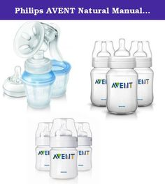 Philips AVENT Natural Manual Breast Pump Kit + 3 x 260ml 3 x 125ml Avent Bottles. Product Description This Avent Manual Breast Pump Kit represents excellent value. The kit contains the following: 1 x Breast Pump body with handle 1 x Standard Size Cushion 3 x Milk Storage Cups 1 x Milk Storage Adaptor 1 x Extra Soft Newborn Flow Nipple 2 x Day Breast Pads 2 x Night Breast Pads 3 x Avent 125ml Baby Bottles with Slow Flow Teats 3 x Avent 260ml Baby Bottles with Slow Flow Teats When you are...