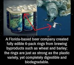 Weird Facts - A Florida-based beer company created fully edible rings from brewing byproducts such as whea -