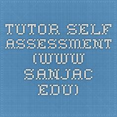 tutor self-assessment (www.sanjac.edu)